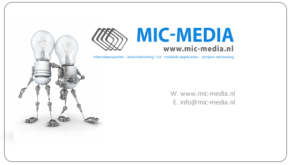 MIC-MEDIA Tilburg Internet, automatisering/ict Mobiele applicaties domeinnaamregistratie project advisering